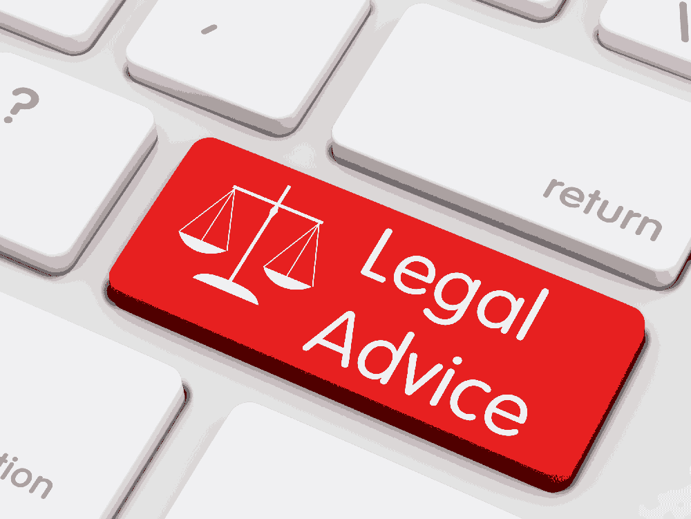 computer keyboard with 'Legal Advice' button. Image source iStock